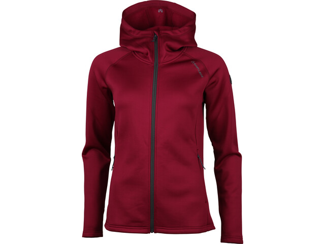 North Bend Vector Chaqueta Polar Capucha Mujer, dark fuchsia